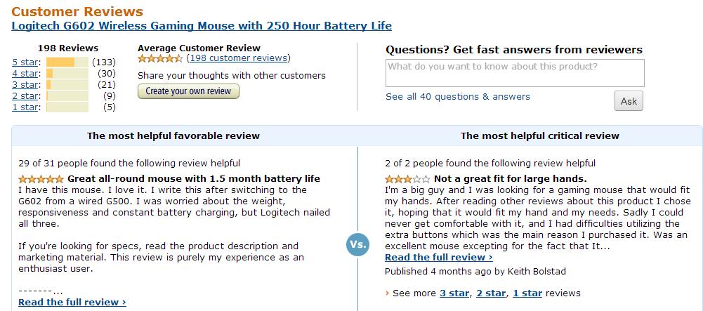 客戶評價可以加快顧客的購買決定
